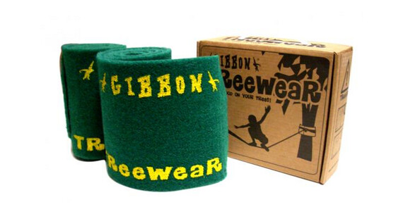 GIBBON Tree Wear - Slackline kit - 3 piezas, con anilla verde